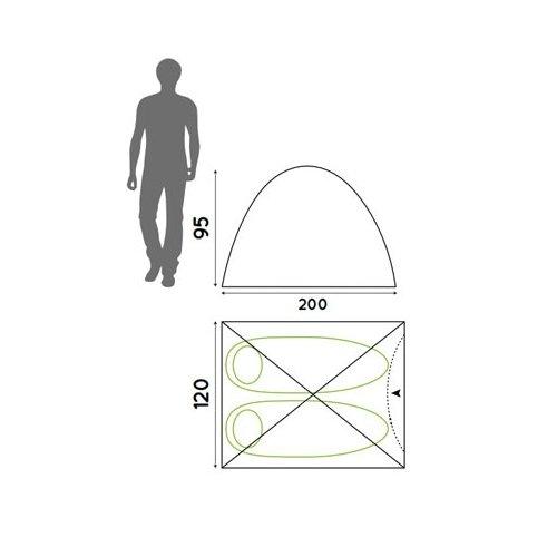 Monodome-Zelt Inkl. Moskitonetz