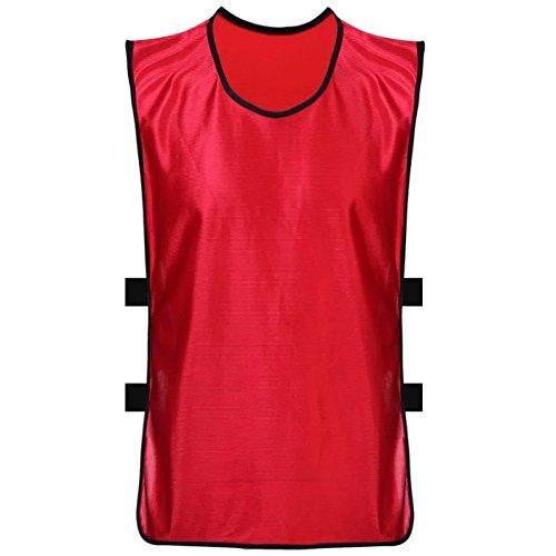 Shi18sport Fußball Anzug, Sportausrüstung, Fußball Training Anzug, Weste Weste Shirt, Red Children\'s Money