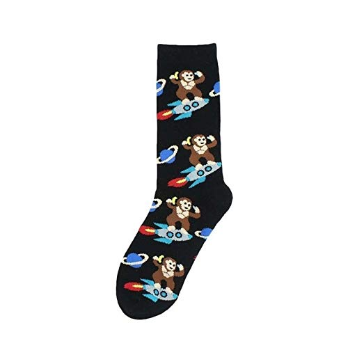 WZIH Hombres Calcetines Divertidos Dibujos Animados Fuchs Mono Moda Unisex Baumwolle Knitting Causal Street Cool Socks,Monkey,37 to 44