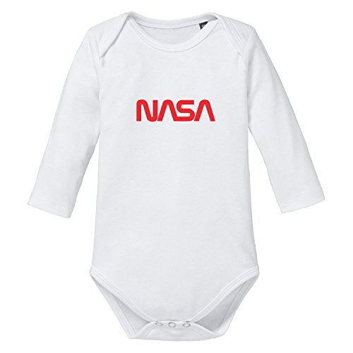 shirtworld – Nasa Worm Logo – Baby Body Manga Larga blanco Wei