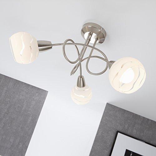 Briloner Leuchten Faretti 3, orientabili, plafoniera, con braccia, palle di vetro, max. 40 W, montaggio E14, Ø 45.5 x 25 cm (D x A)