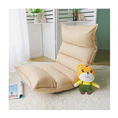 Zichen Klappstuhl Legless Chair , Verstellbarer 6-Positionen-Bodenstuhl Sofa Folding Lounge Chair Ideal für Lesespiele Meditating-Grey, L-ash (Color : L-2khaki) -
