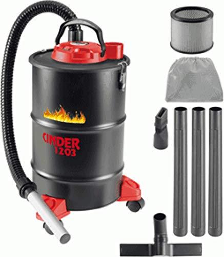 lancia piatta e spazzola con setole ASPIRACENERE ELETTRICO CENERIX 1200 W 18 L con doppio filtro
