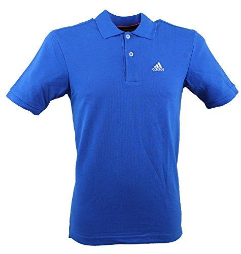 Adidas-Maglietta Polo da uomo Essentials Blue M