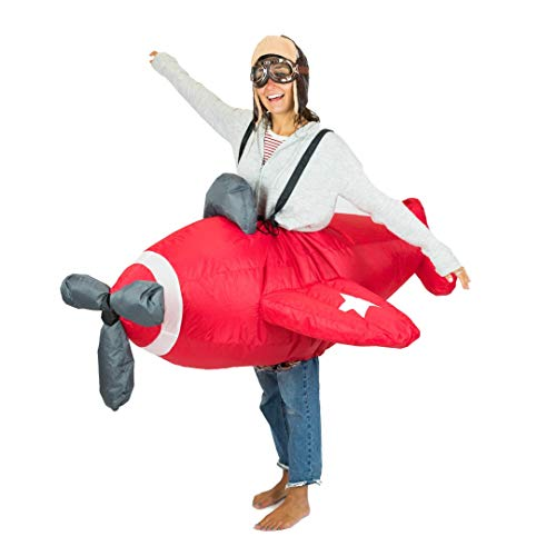 Piloten Flugzeug Kinder Kostüm - Bodysocks® Inflatable Airplane Costume (Adult)