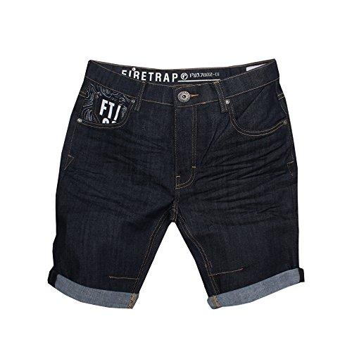 Firetrap Herren Short Schwarz Schwarz XL