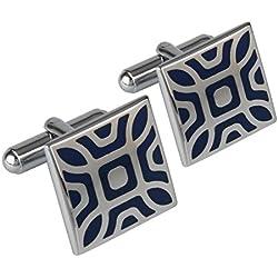 Shining Jewel Rodium Plated Cufflinks for Men (SJ_3016)