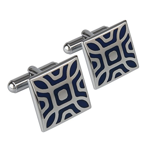 Shining Jewel Rodium Plated Cufflinks for Men (SJ_3016)