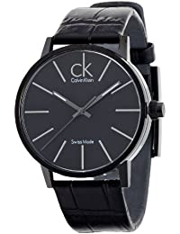 Calvin Klein K7621401 - Orologio da polso da uomo, cinturino in pelle colore nero