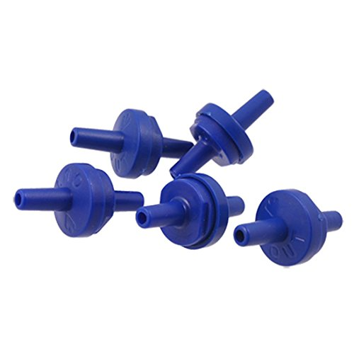 Sonline 5PCS plastico para no retorno de la bomba de aire del acuario valvulas de retencion