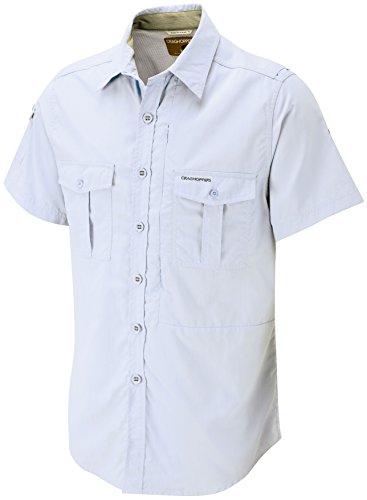 Craghoppers Herren Nosilife kurzärmeliges Shirt Weiß - Weiß