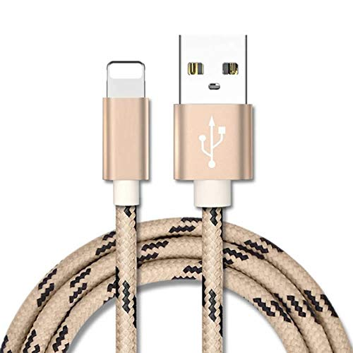 Superior for iPhone Cable ZRL® Metal Braided Wire Sync Data Charger USB Cable for iPhone X/8/8 Plus/7/7 Plus/6s/6s Plus/6/6Plus/5s/5c/5, iPad/iPod - Stainless 7