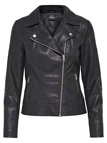 ONLY 15127012 CARA FAUX LEATHER BLACK CAPOSPALLA E GIUBBOTTI Donna BLACK 36/S