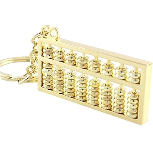 Abacus Keychain Auto-Schlüssel-Halter-Anhänger Schlüsselanhänger Silber 8 Regale