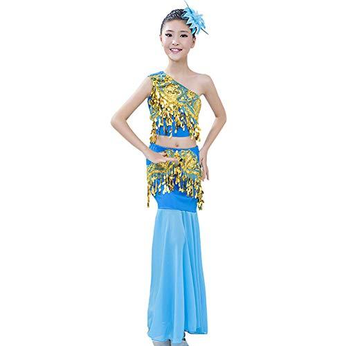 Yudesun Tanzsport Bekleidung Mädchen Röcke Bauchtanz - Belly Moderner Dance Costumes Trend Mode Fasching Kostüme Darbietungen Kleidung ()