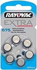 Rayovac Extra Advance Hearing Aid Batteries Size 675 (6 X 3 Pack) 18 Pcs