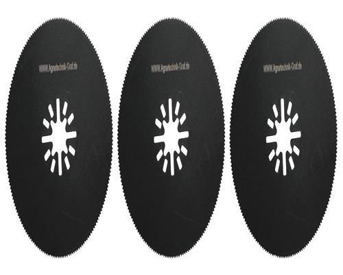Agrartechnik-Graf Segmentsägeblatt 80 mm aus HSS-Stahl 3er Set für Multitool