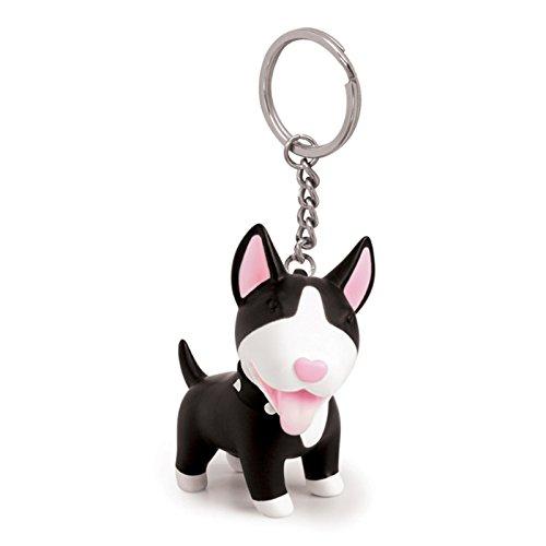 AnaZoz Schmuck Schlüsselanhänger Haustier Fahrzeugschlüssel Hund Taschenanhänger Geschenk für Herren Damen Schwarz