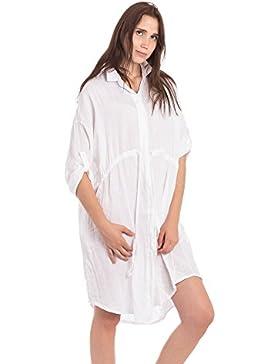 Abbino 7266 Blusas Tops para Mujer - Hecho en ITALIA - 4 Colores - Entretiempo Primavera Verano Otoño Mujeres...
