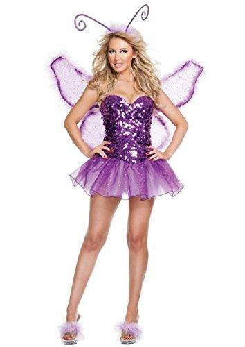 Nihiug Halloween Kostüm Weiblich Erwachsene Masquerade Engel Anzug Sexy Cute Roleplay Cosplay Prank Interessante Realität Geheimnis,A (Masquerade Witch Erwachsene Kostüme Damen)