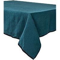 Harmony - Tovaglia in lino lavato Letia - 100% lino Stone Wash, Blu di Prussia, 170_x_250_cm