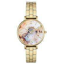 Lola Rose – Bracelet Femme – Montre à quartz avec affichage analogique et alliage plaqué or cadran multicolore lr4004