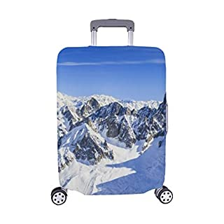 Mont Blanc Mountain View Aiguille Du Spandex Trolley Case Travel Luggage Protector Suitcase Cover 28.5 X 20.5 Inch