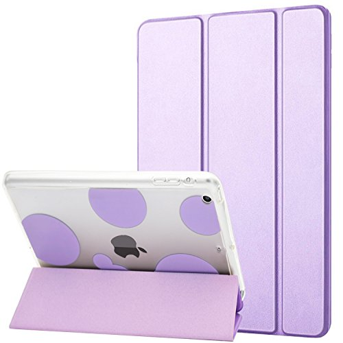 Dailylux iPad Mini Hülle,iPad Mini 2 Hülle,iPad Mini 3 Hülle,Shockproof TPU + Harter PC intelligente Fall-Abdeckung mit Selbstschlaf/Wake Funktion für ipad Mini 1/2/3 -Bubble lila (Lila Ipad 2 Fall)
