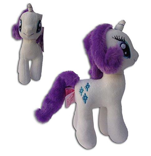 Pony weiß 30cm Plüsch Pferd Spielzeugponys My Little Pony Stofftier Fernsehserie Einhorn (Mein Kleines Pony-hasbro)