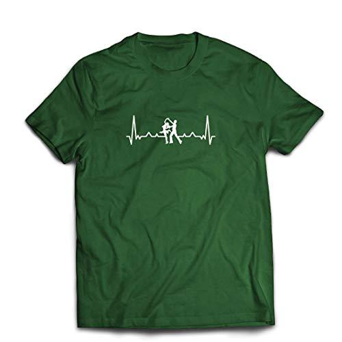 lepni.me Männer T-Shirt Tanzen mit Herzschlag, Tanz-Liebhaber-Shirt, Tänzer-Outfit (XX-Large Dunkelgrün Mehrfarben) (Mensch Und Hund Kostüm Ideen)