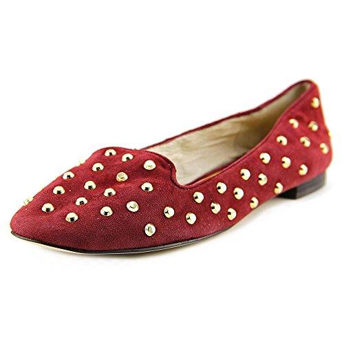 Michael Michael Kors Ailee Flat Femmes Daim Chaussure Plate Cinnabar