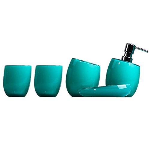 accessori-bagno-cofanetti-regalo-4piece-emulsion-bottiglia-spazzolino-piatto-titolare-collutorio-taz