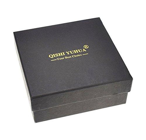 QISHI YUHUA PD Hommes Tendances de la mode Cuir Pleine Fleur Ceintures Profond Brun