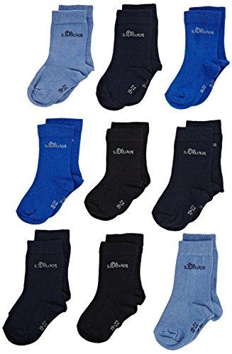 s.Oliver Socks Jungen Socken S20031, 9er Pack, Gr. 27-30, Blau (blue 30)