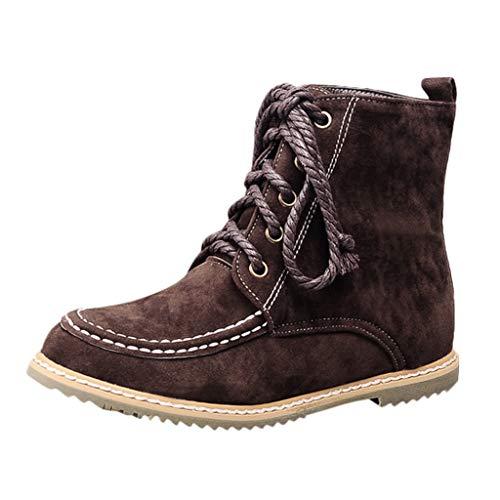 DOLDOA Damenstiefel Weiblicher Kurzer Schlauch rutschfeste Warme Schneeschuhe Stiefel Freizeitschuhe Warm Schuhe Wildlederschuhe Oxford Schnürhalbschuhe