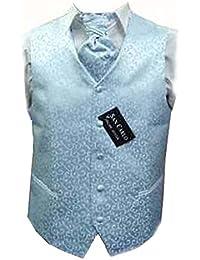 Hommes ciel Qualité paisley bleu ensembles de mariage de gilet (ref:blue paisley waistcoat)