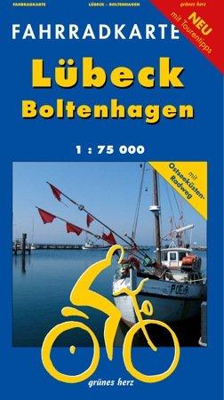 Fahrradkarte Lübeck - Boltenhagen: Mit Ostseeküsten-Radweg. Maßstab 1:75.000.
