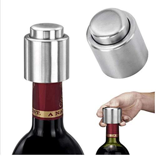 DEtrade Rostfreier Stahl Weinglas Multifunktional Champagner Bier Vakuumflasche Wein Cork Edelstahl Weinverschluss Multifunktionspresse Champagnerbier Vakuumverschluss (B)