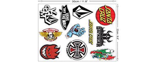1 Set mit 11 Aufkleber Sticker Autocollant Skateboard Skater BMX Auto Motorrad Bike ATV Sponsor Rally Racing Motocross Logo Hot Rod Notebook Laptop Helm Driftking
