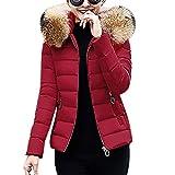 Worsworthy Damen mäntel Mode Damen mäntel günstig lang Damen mäntel Sale Parka Damen mäntel mit Fellkapuze mäntel Damen Herbst lang mäntel Damen Winter Damen Jacken Winter Luxus (Wein, XXL)