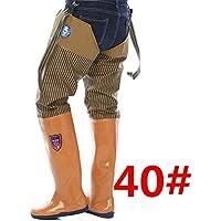 Muchen - Botas de pesca ajustables de 0,65 mm de grosor, impermeables, de PVC, suaves, de camuflaje, caza, pesca, pantalones + botas