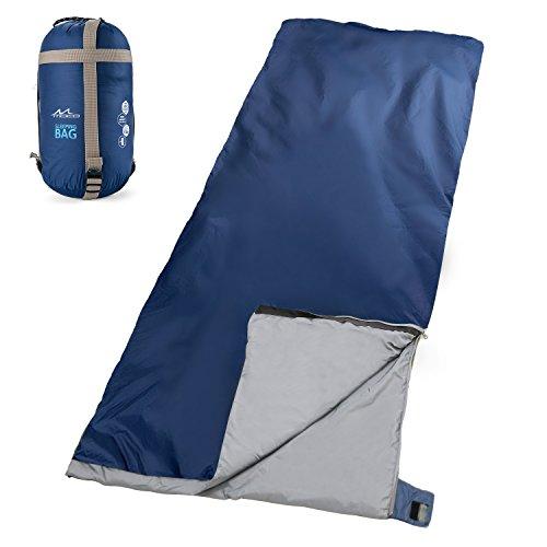 Moko outdoor sacco a pelo portabile multifunzionale leggero impermeabile, misura 190cm * 85cm, a forma di busta, per campeggio, alpinismo, viaggio, escursionismo - indaco