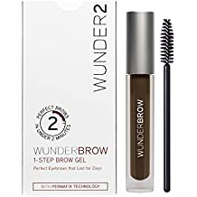 WUNDER2 WUNDERBROW Gel de Cejas Waterproof – Cejas Duraderas con Volumen y Definición, Color Black