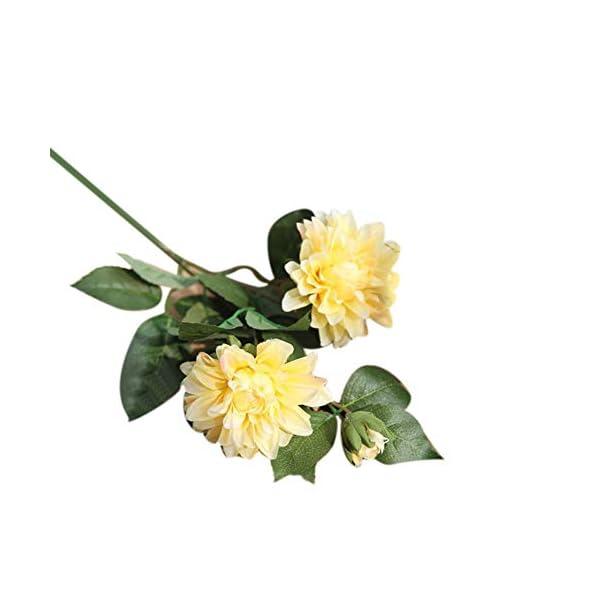 Plantas Artificiales de Profusion, 1 Unidad, románticas Flores Artificiales de Dalia Falsas para decoración de jardín…