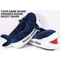 Personalized Men's Slippers Daddy Shark - Grandpa Shark Christmas Gift Birthday Present
