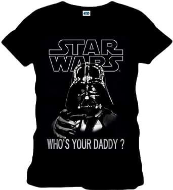 original Star Wars Girl T-Shirt WHO IS YOUR DADDY schwarz CODI Gr. S-L (S)