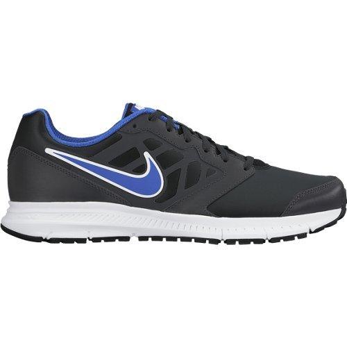 Nike Downshifter 6 Lea Scarpe da Corsa, Uomo, Nero/Blu/Bianco, 40.5 Nero/Blu/Bianco