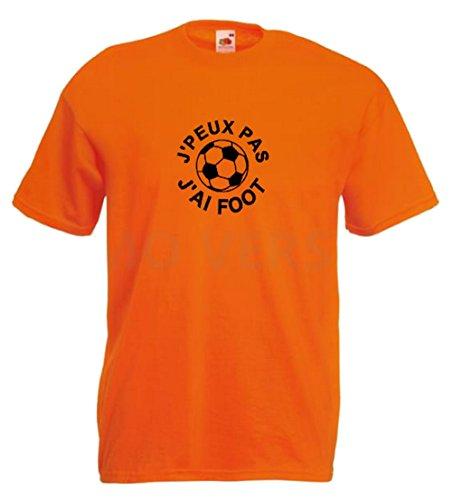 Steefshirts Herren T-Shirt schwarz schwarz Small Orange