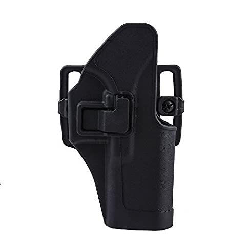 Image Hunting Gun Holder Quick Tactical Holster Right Hand Paddle & Belt Holster Fits For Glock 17/22/31 Black