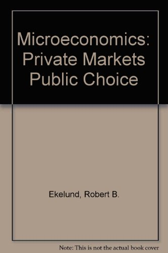 Microeconomics: Private Markets Public Choice